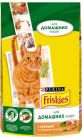 Корм Friskies Indoor для домашних кошек с курицей и садовой зеленью
