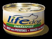 Lifedog для собак говядина с картофелем 90гр