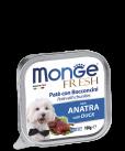 Monge Dog Fresh консервы для собак паштет утка 100гр